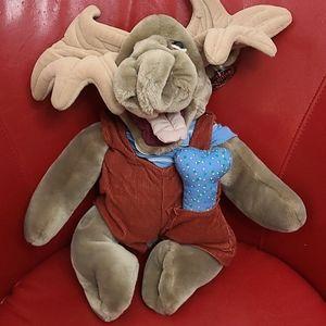Vintage wrinkles moose puppet